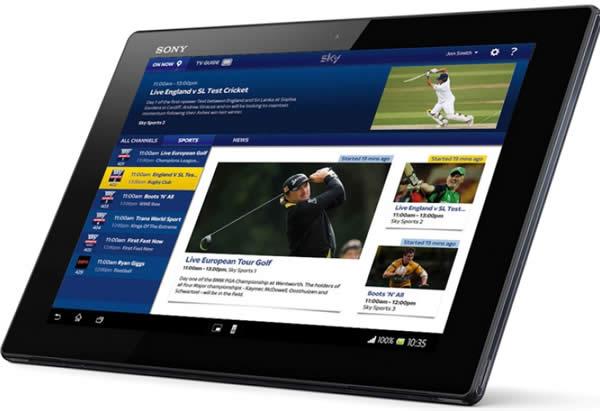 Sky Go Samsung Tablet